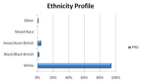 Ethnicity profile graph