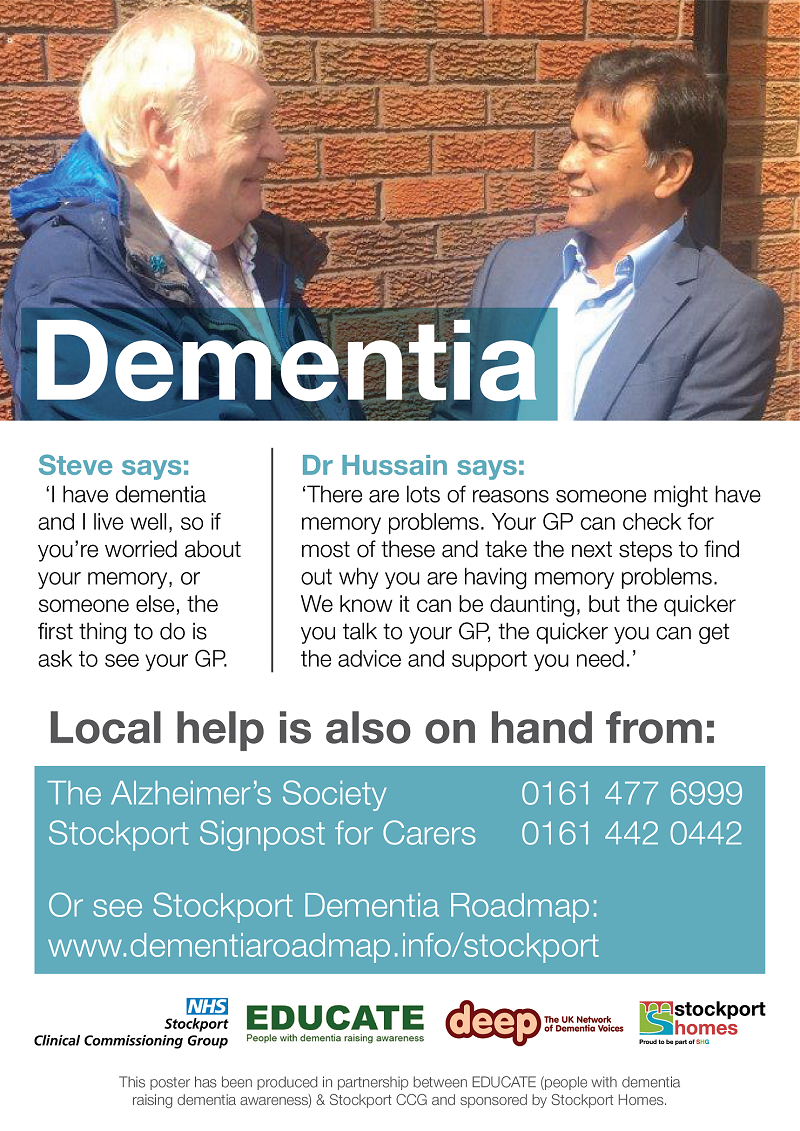 Dementia Awareness poster. The information on the poster can be found below